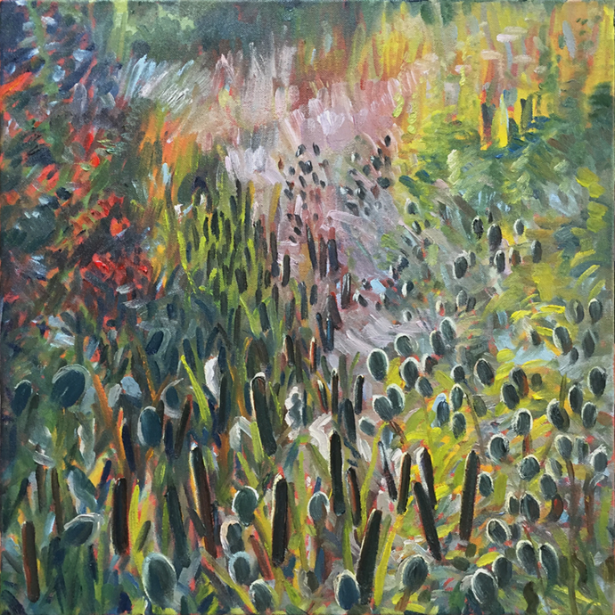 Bullrushes and Teasels October, 2018 by Stuart Nurse