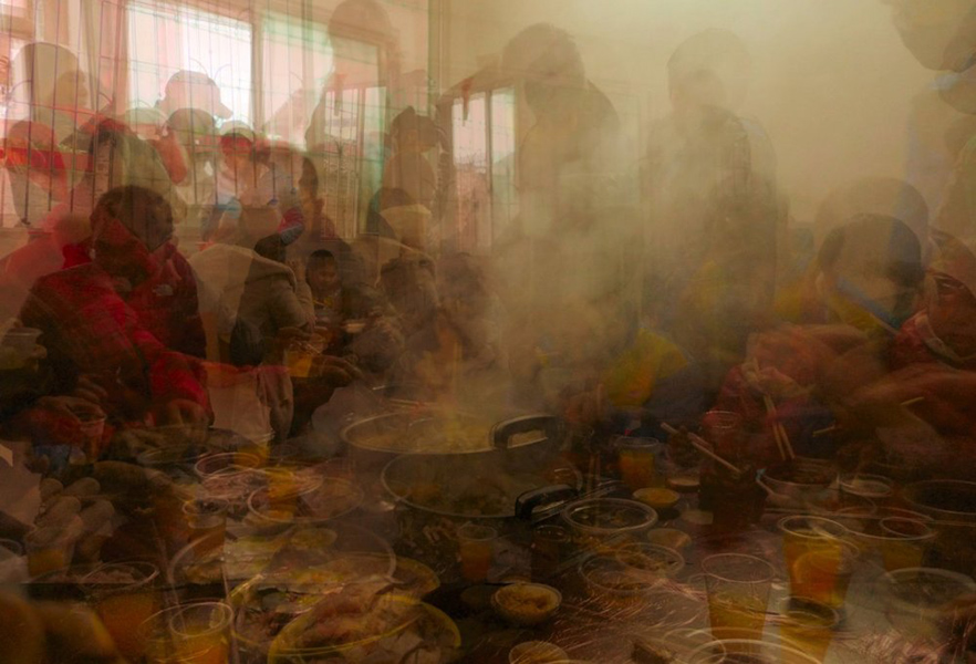 Peasant meal, Shaoguan by John Brooks