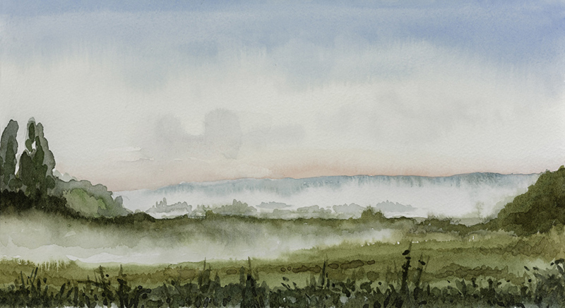 Morning mist by Julia Vaughan