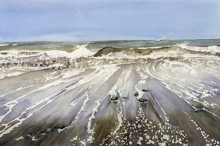 Waves, Isle of Wight by Julia Vaughan