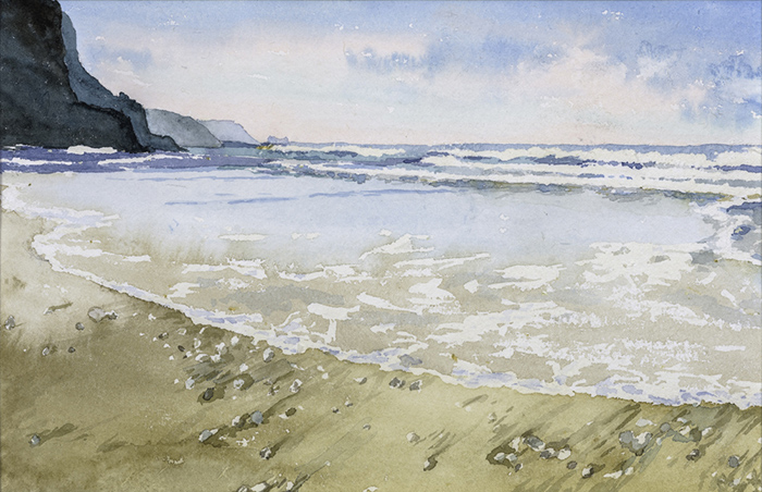 Waves, Porthtowan by Julia Vaughan