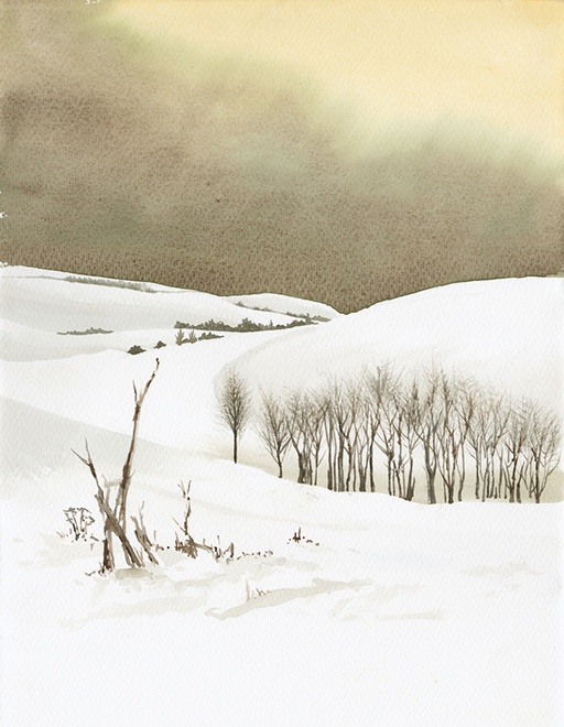 Winter on Marlborough Downs II by Julia Vaughan